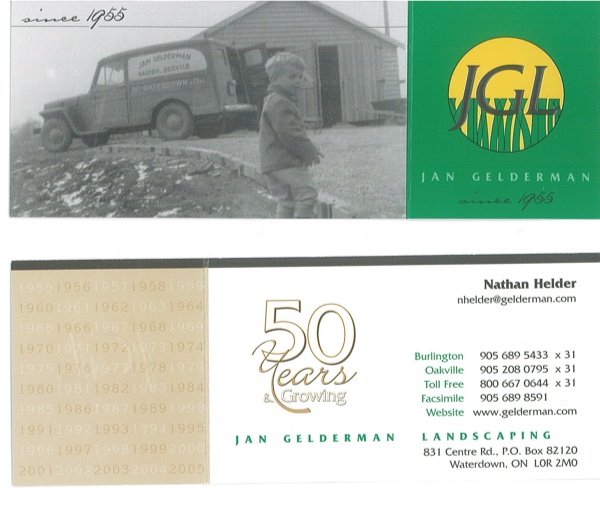 Jan Gelderman Landscaping celebrated its 50th anniversary.